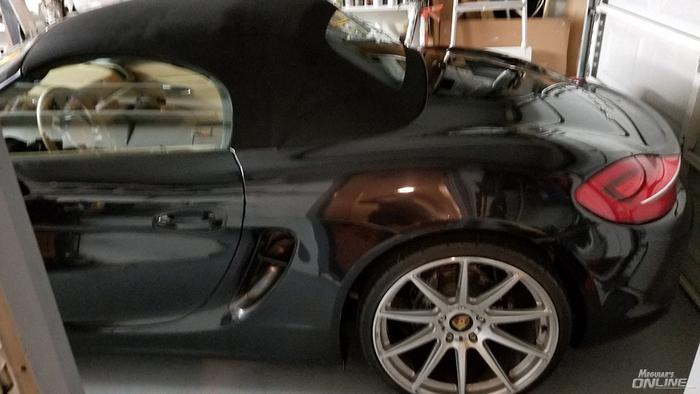 Porsche 981 Boxster After Meguiars