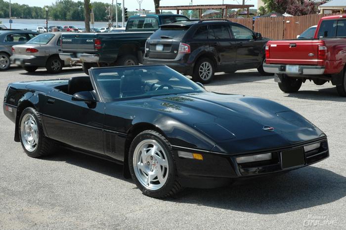 1990 Corvette Black Convertible