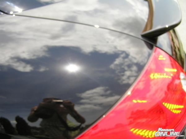 Rear quarter reflection shot